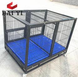 Carrello Handmade d'acciaio della gabbia del cane del tubo quadrato