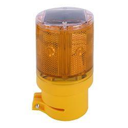 Luce Di Avvertimento Lampeggiante A Led Barricade Solar Power Ip66 Per Esterni Resistenti