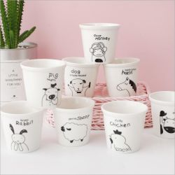 Venda a quente zodíaco chinês de desenhos animados de cerâmica caneca de café
