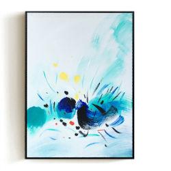 Pintura acrílica en forma de L arte enmarcado Oleo Arte Moderno