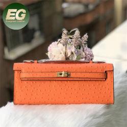 Роскошный кожаный страусов женщин Wallet кнопку муфты кошелек леди короткое замыкание дамской сумочке пакет моды кошельки оптовая торговля с Китаем на заводе Emg6064