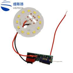 Commerce de gros B22 E27 SKD Ampoule de LED en plastique du logement des pièces en aluminium