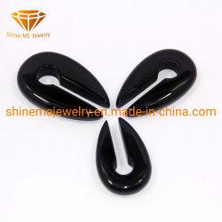 Shineme Body Jewellery pietra naturale tappo pietra nera Horseshoes pietra Splitter di perforazione 1980c