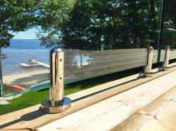 De Omheining van het Glas van Frameless met de Sponnen van het Roestvrij staal voor Zwembad