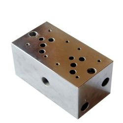 Les blocs de soupapes en alliage aluminium hydraulique, bloc hydraulique d'usinage CNC
