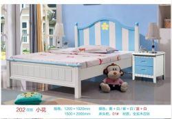 Antique Muebles de dormitorio cama con dosel de madera maciza cama Queen Size