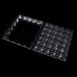 Les packs de 30 trous en plastique transparent du bac d'emballage en plastique de cartons d'oeufs