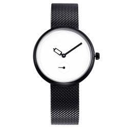 Maille en acier inoxydable Mouvement Quartz Watch Style simple femmes montre-bracelet