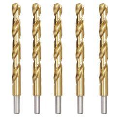 De Titanium Met een laag bedekte Bits van de Boor HSS, de Lengte van de Handelaar, Rechte Steel