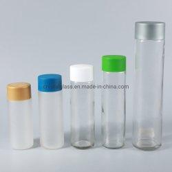 het Drinken van de Drank van het Sap van het Mineraalwater van de Stijl 300ml-1000ml Voss de Fles van het Glas met Plastic GLB voor Sporten