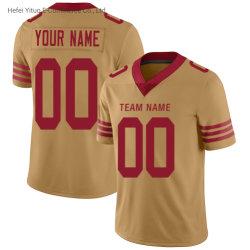 Gutes Verkauf Soem Feuchtigkeit-Wicking Polyester-Gold umgekehrtes Fußball-Kleid