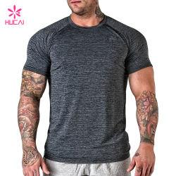 卸売のスポーツの服装メンズ体操の摩耗のTシャツ