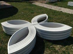 Clarabóias de plástico reforçado com fibra de vidro Material GRP Plantadeira com Jardim
