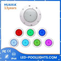 35W는 수중 램프 수지에 의하여 채워진 표면에 의하여 거치된 LED 수영풀 빛을 방수 처리한다