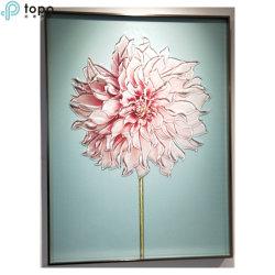 H800mm*600mm chinois mur simple fleur rose art Peinture décorative (MR-YB6-2060C)