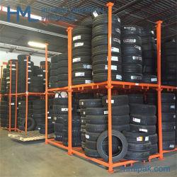 Professional Venta caliente de apilamiento de almacén de palets de acero ajustables de almacenamiento de neumáticos