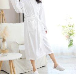 100% algodón de alta calidad para el Hotel /home /SPA Collar de kimono albornoz de alimentación para la ropa de hogar ropa de cama de hotel