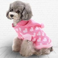 Perro Sudadera con capucha cachorro tejidos para ropa de perros pequeños