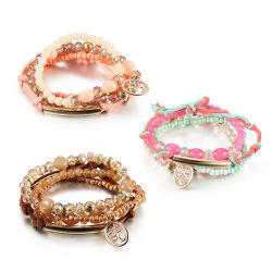 Venda a quente Verão Boho Cordão de cristal multicamada bracelete de praia