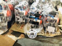 鋳造ステンレススチール製空圧式トリプレットアクチュエータ 2PC フランジボールバルブ