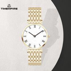 Ome marca/ODM Dama Oro reloj de pulsera con la banda de acero (71408)