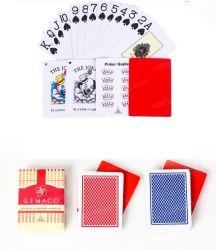 Kaarten de van uitstekende kwaliteit van het Document van de Speelkaarten van de Kaarten van de Pook van het Document van het Casino met anti-Vals Teken