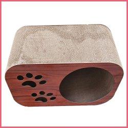 波形を付けられる印刷される製造業者の習慣-ボードの猫または犬小屋のネスト