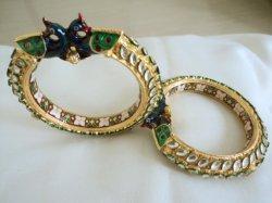 Acero inoxidable pulsera de oro Gold-Plated Bangles
