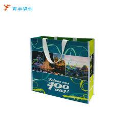 Eco-Friendly reutilizável de plástico polipropileno laminado de desenhos animados de PP Tecidos Sacola grande de Compras