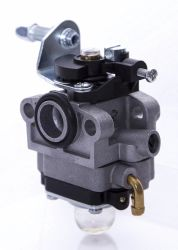 Le massicot\pulvérisateur\1e32f de la soufflante à l'aide du moteur carburateur à membrane