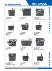 いろいろな種類の車AC蒸化器