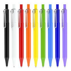 Penna di Ballpoint promozionale di pubblicità di plastica di scatto della penna di sfera