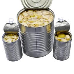 新しく、よいきのこの材料加工の缶詰にされたきのこ