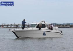 11,3m/37pies barco pesquero de fibra de vidrio/Barco Barco/potencia/velocidad/Motor yate barco/cabina/Barco Barco