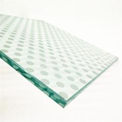 Usine de gros mur rideau fiable sûr Partition Bâtiment de 8 mm Trempé OEM Sérigraphie mur de verre