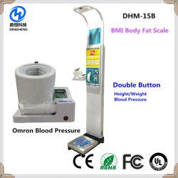 Dhm-15b Medical Báscula Medidor de presión arterial con el funcionamiento de la Moneda de pesaje electrónico de Grasa Corporal Escala