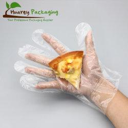 Обработки продовольствия HDPE LDPE полиэтилен пластиковых одноразовых перчаток руки