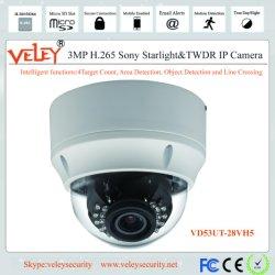 Vandal-Proof IP van de Koepel van het Gezoem HD IRL van de Motor 3.0MP WDR Camera