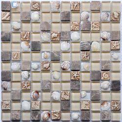 Seeshell-Entwurfbrown-Farben-Kristallglas-Mosaik