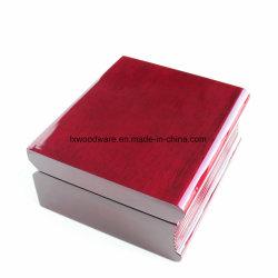 Orologio unico del regalo della Tabella dell'alto di lucentezza del palissandro di rivestimento del mestiere del libro scrittorio di legno dell'orologio
