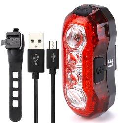 USB再充電可能なLEDのヘルメットの自転車のテールバイクの後部ライト
