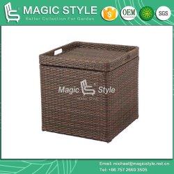Плетеная стороны стола с плетеной лотка лоток для чая в таблице патио стороны стола (Magic Style)