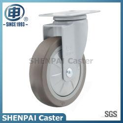 TPE Power-Coated prateadas girar as rodas de guia com caster