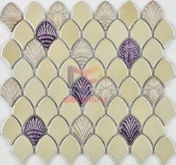 Crème glacé céramique avec motif Shell mosaïques (BK001)