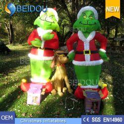 Globo gigante Grinch Airblown inflables inflables Grinch de Navidad al aire libre