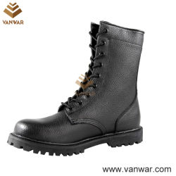 Volles Leather Unisex Military Combat Boots von Black (WCB031)