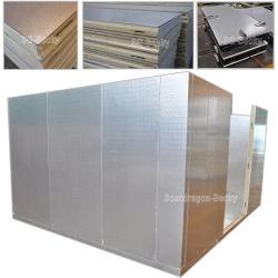 Acabado en aluminio repujado cámara frigorífica de poliuretano para la alimentación de almacenamiento en frío