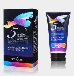Волосы на основе красителя 3D-сияние вокруг яркие красочные кремового цвета волос
