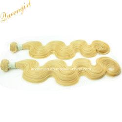 Bon marché de gros de matières 613 Corps Cheveux brésiliens de tissage des fils de trame d'onde des cheveux blonds ondulés