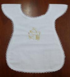 Alta qualidade Super Macio 100% algodão bebê Bib baptismal
